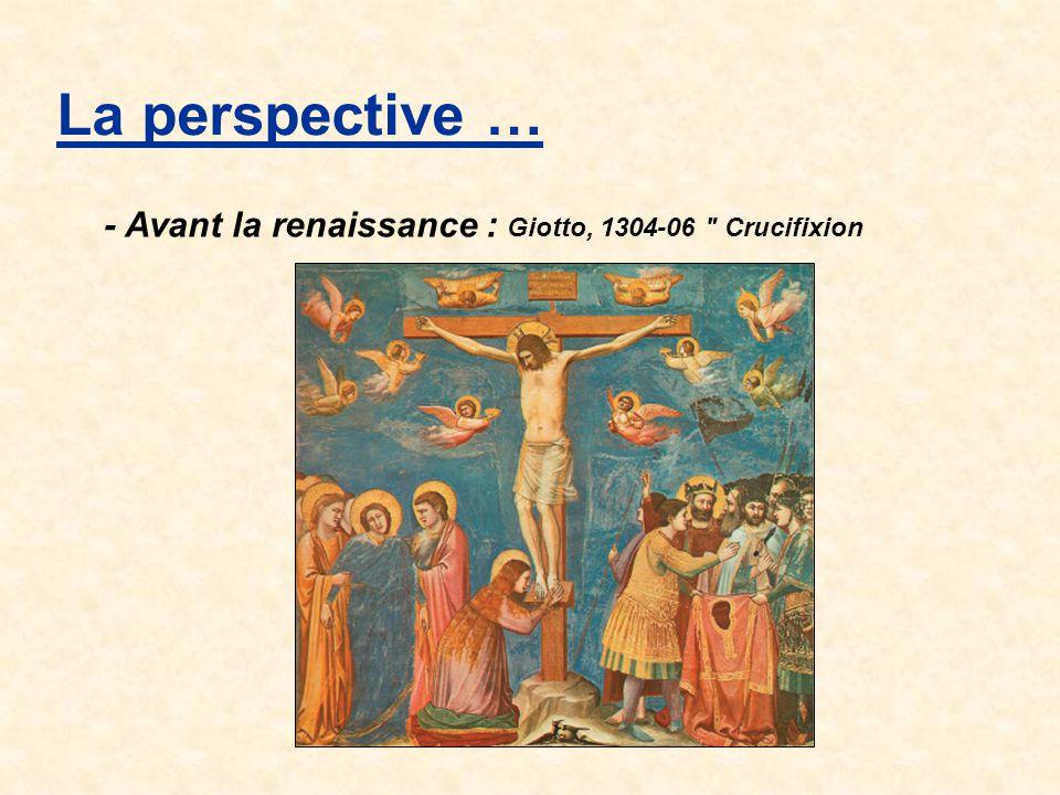 La perspective … - Avant la renaissance : Giotto, 1304-06