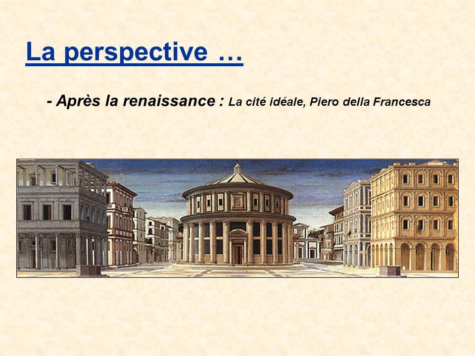 La perspective … - Après la renaissance : La cité idéale, Piero della Francesca