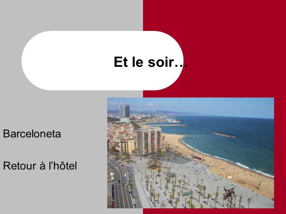 Et le soir… Barceloneta Retour à l'hôtel