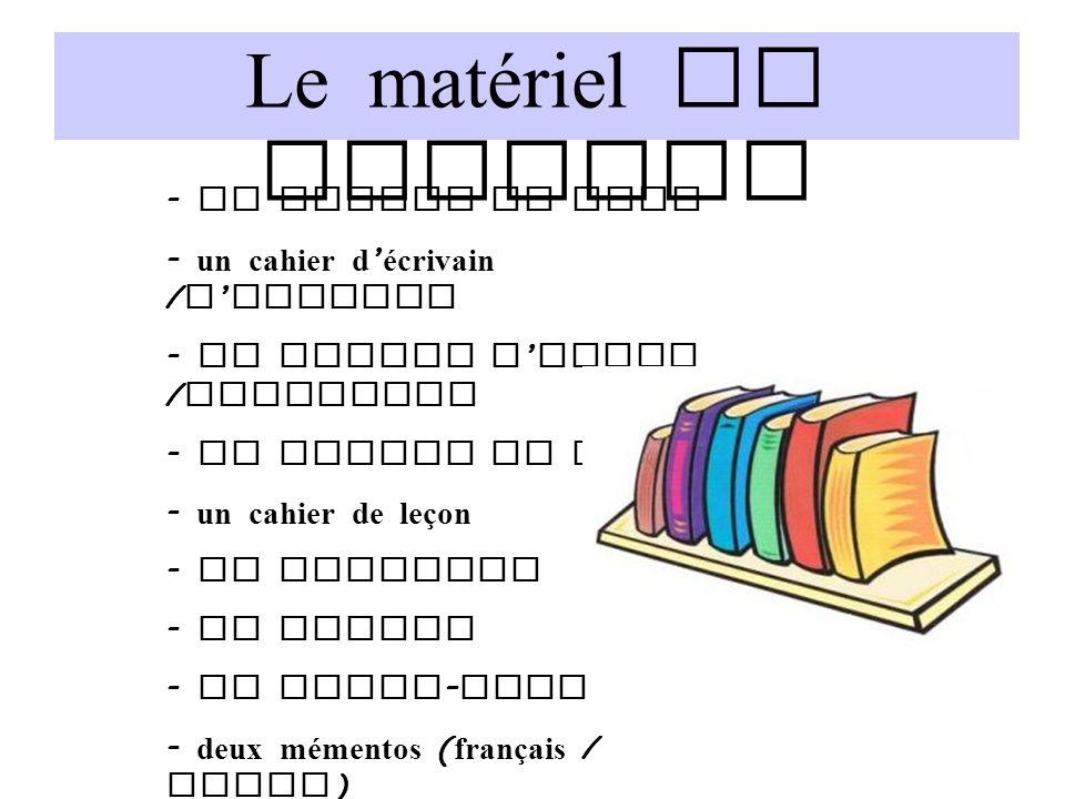 Le matériel de travail - un cahier du jour - un cahier d ' écrivain / d ' artiste - un cahier d ' essai / brouillon - un cahier de mots - un cahier de