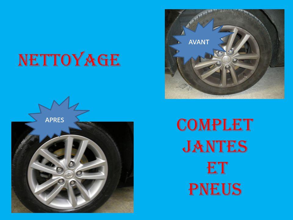 NETTOYAGE APRES COMPLET JANTES ET PNEUS