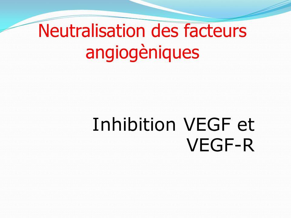 Neutralisation des facteurs angiogèniques Inhibition VEGF et VEGF-R