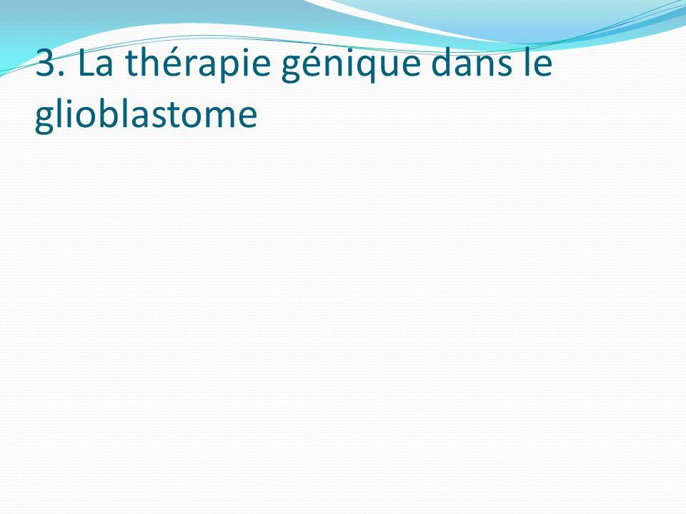3. La thérapie génique dans le glioblastome