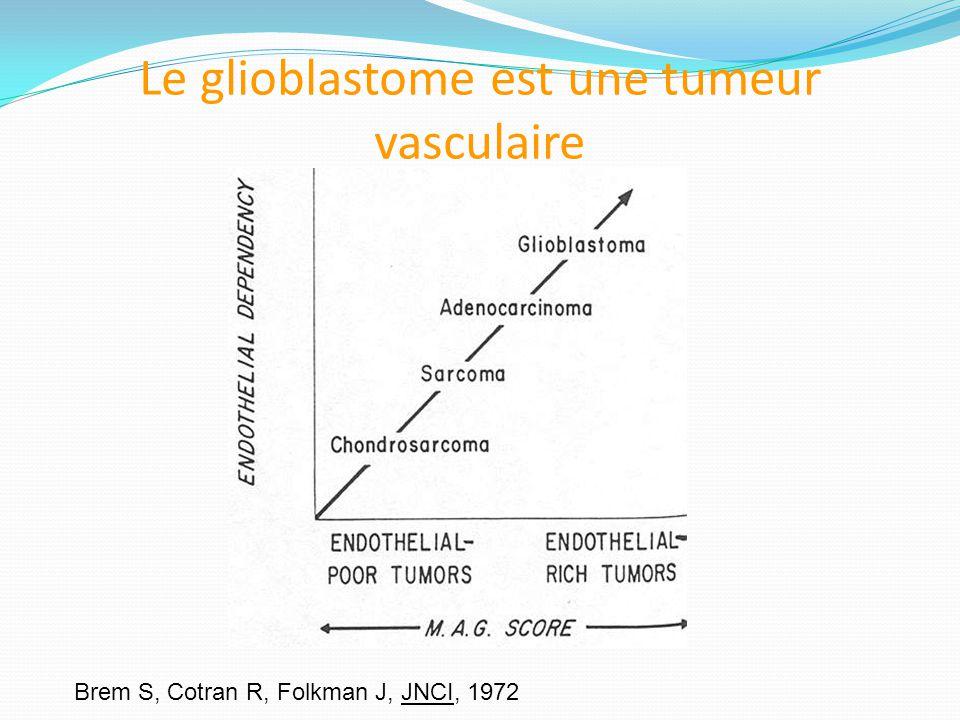 Le glioblastome est une tumeur vasculaire Brem S, Cotran R, Folkman J, JNCI, 1972