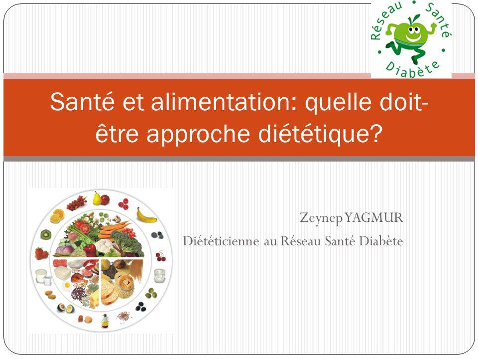 Zeynep YAGMUR Diététicienne au Réseau Santé Diabète Santé et alimentation: quelle doit- être approche diététique?