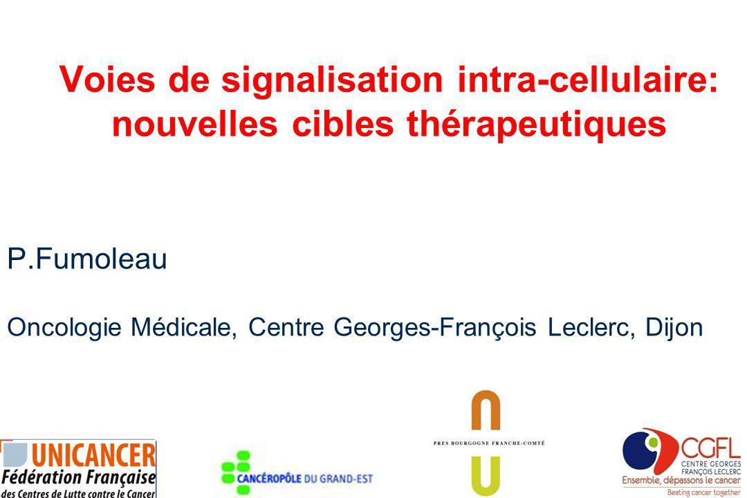 Voies de signalisation intra-cellulaire: nouvelles cibles thérapeutiques P.Fumoleau Oncologie Médicale, Centre Georges-François Leclerc, Dijon
