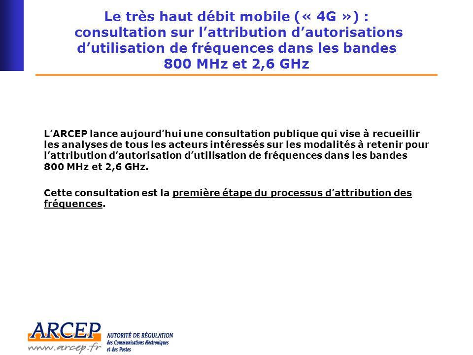 16 Les bandes 800 MHz et 2,6 GHz sont complémentaires pour le déploiement du très haut débit mobile Couverture du territoire (99% population) Débit actuel Couverture du territoire (99% population) Besoin de plus de fréquences basses (<1000 MHz) Très Haut Débit mobile Zones denses Débit actuel Très Haut Débit mobile Avec fréquences hautes à 2,6 GHz Besoin de plus de fréquences hautes (>1000 MHz) Avec fréquences hautes et basses (2,6 GHz et 800 MHz)