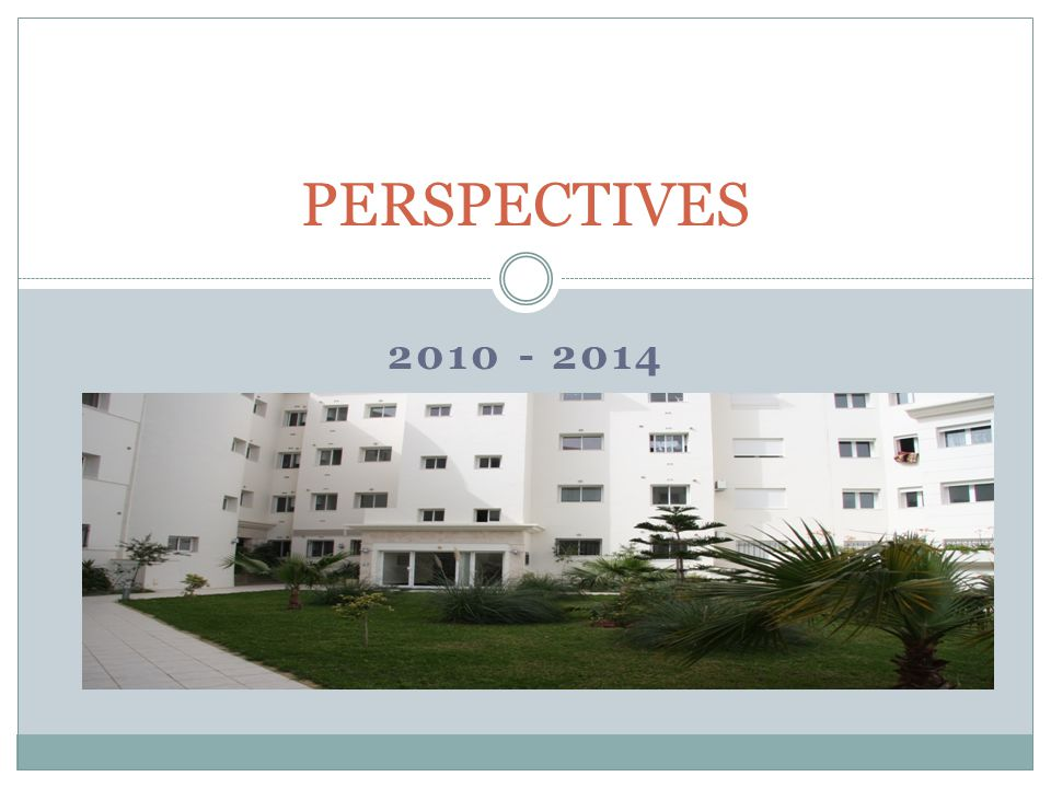 PERSPECTIVES 2010 - 2014
