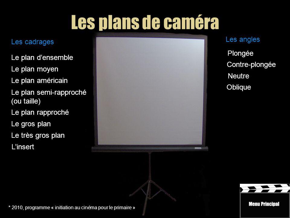 Initiation au cinéma Cadrages et angles * 2010, programme « initiation au cinéma pour le primaire » Les mouvements de caméra Trucs et conseils Vocabul