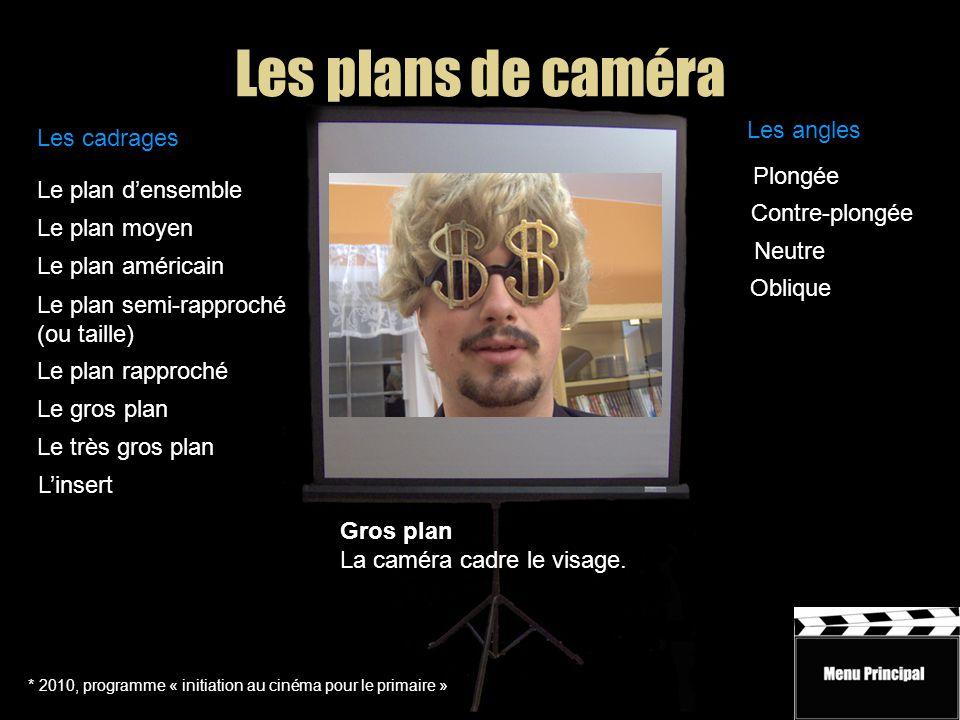 Les plans de caméra * 2010, programme « initiation au cinéma pour le primaire » Le plan d'ensemble Le plan moyen Le plan rapproché Le plan semi-rappro
