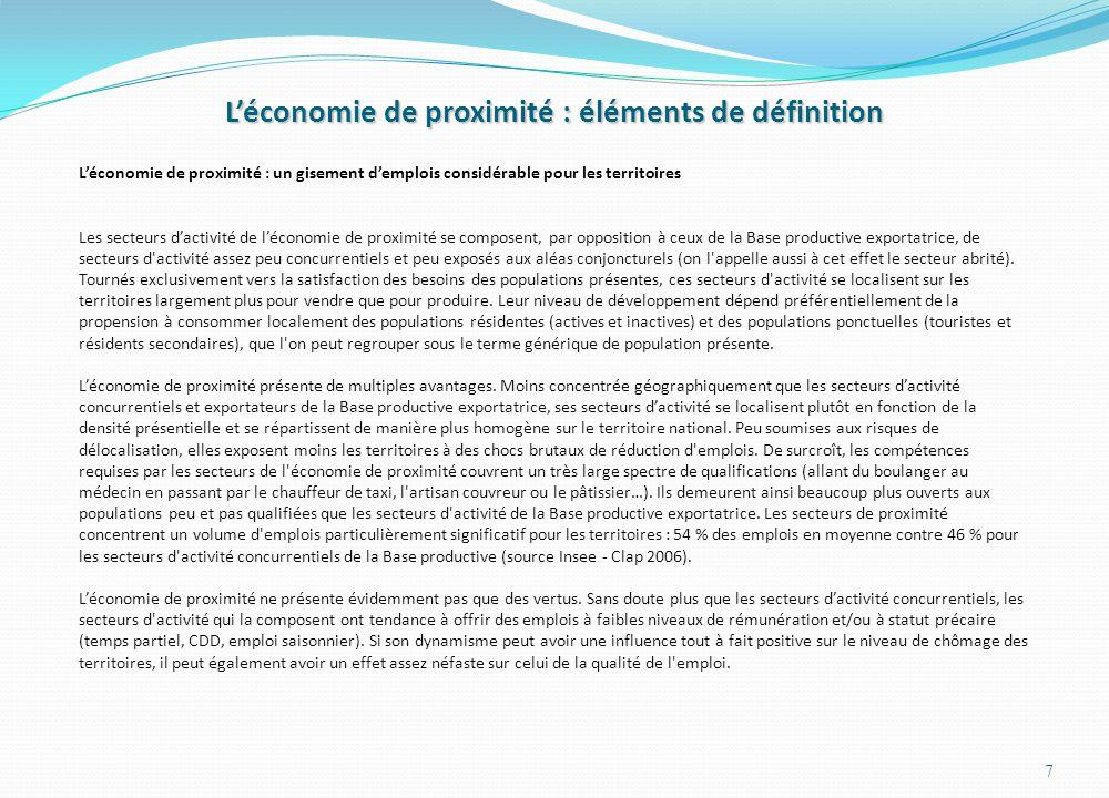 Annexe II Les secteurs de l'économie de proximité décomposés par fonction 38