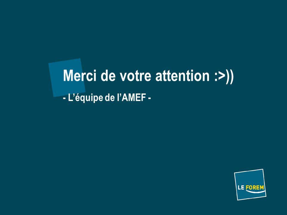 Merci de votre attention :>)) - L'équipe de l'AMEF -