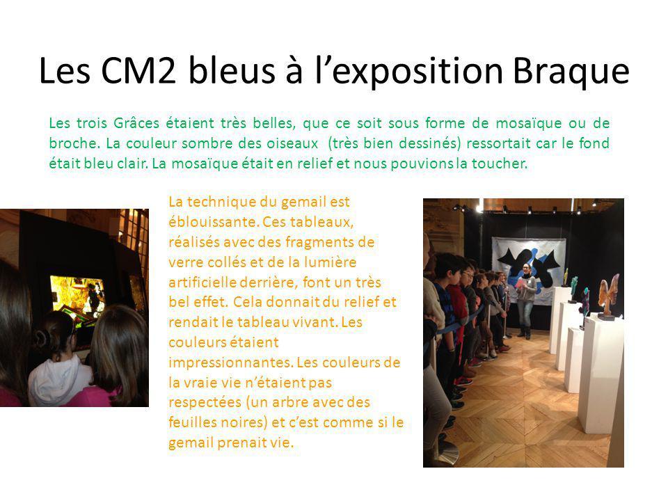 Les CM2 bleus à l'exposition Braque Les bijoux : Un ami de Braque, bijoutier, l'a aidé à les fabriquer.