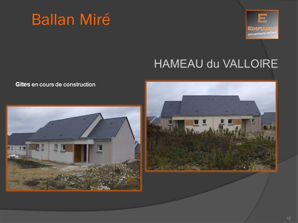 HAMEAU du VALLOIRE Gîtes en cours de construction Ballan Miré 10