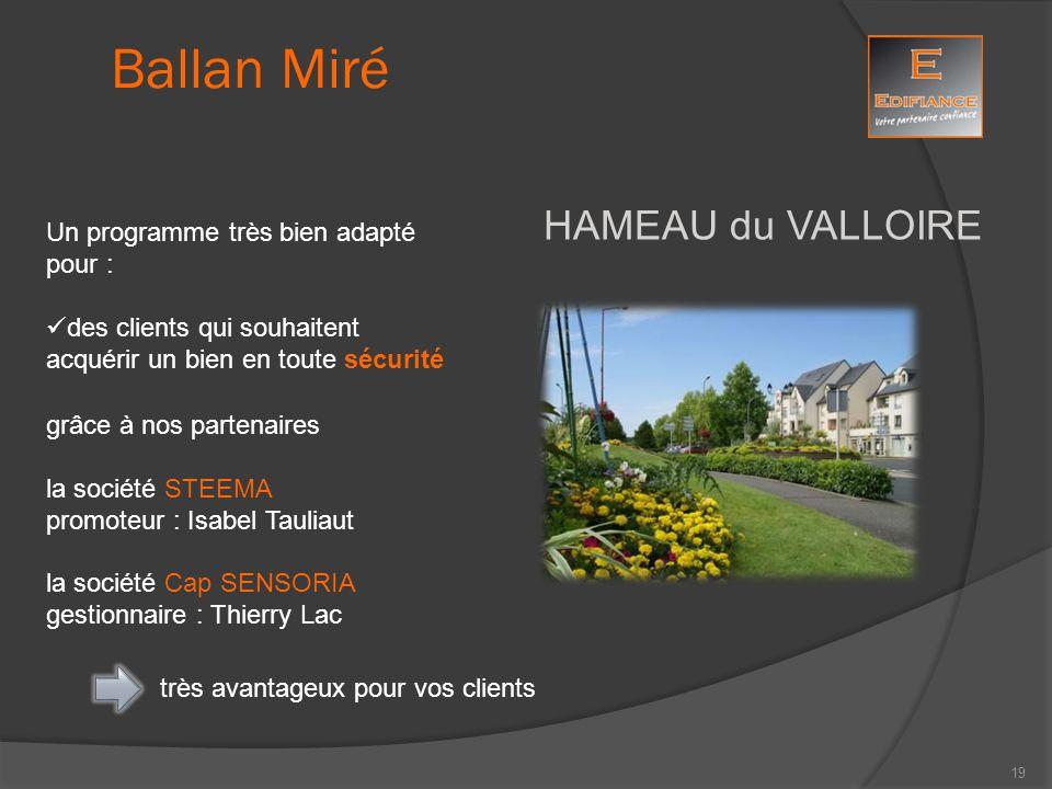 HAMEAU du VALLOIRE grâce à nos partenaires la société STEEMA promoteur : Isabel Tauliaut la société Cap SENSORIA gestionnaire : Thierry Lac Ballan Mir