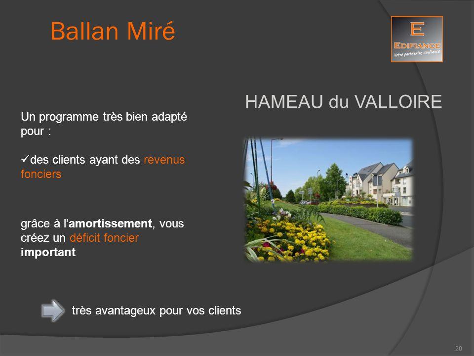 HAMEAU du VALLOIRE Ballan Miré Un programme très bien adapté pour : des clients ayant des revenus fonciers grâce à l'amortissement, vous créez un défi