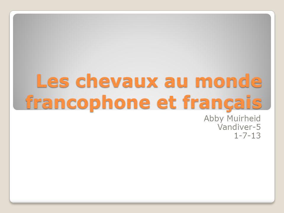 Les chevaux au monde francophone et français Abby Muirheid Vandiver-5 1-7-13