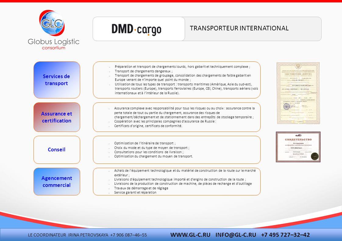 EXPERTISE DES CONTRATS D'IMPORT-EXPORT CONSULTATIONS POUR L'ACTIVITÉ D'IMPORT-EXPORT ET POUR LES QUESTIONS CONCERNANT LES DOUANES RECUEIL, ANALYSE ET ACCORD DU PAQUET DE DOCUMENTS POUR LE DÉDOUANEMENT CLASSIFICATION DES MARCHANDISES CONFORMÉMENT À LA NOMENCLATURE DES MARCHANDISES DE L'ACTIVITÉ D'IMPORT-EXPORT OBTENTION DES CERTIFICATS VÉTERINAIRES ET PHYTOSANITAIRES, DES AUTORISATIONS EN RELATION AVEC LE PASSAGE EN DOUANE DÉCLARATION ÉLÉCTRONIQUE ET PRÉALABLE DES MARCHANDISES DANS N'IMPORTE QUELLE RÉGION DE RUSSIE SPÉCIALISATION POUR LES DÉCLARATIONS AVEC PLUSIEURS MARCHANDISES DISTINCTES, TRAVAIL AVEC DE GRANDES MASSES DE DONNÉES DANS LES FACTURES PAIEMENTS DES TAXES DE DOUANE OBLIGATOIRES ET AUTRES POSITIONNEMENT DES CHARGEMENTS DANS LES ENTREPÔTS DE DOUANE ET LES ENTREPÔTS DE STOCKAGE TEMPORAIRE PRÉSENTATION DE RAPPORTS ÉLÉCTRONIQUES, TENUE D'UNE ARCHIVE ÉLÉCTRONIQUE DES DÉCLARATIONS DE MARCHANDISE EN DOUANE SERVICES JURIDIQUES DANS LE SECTEUR DE L'ACTIVITÉ D'IMPORT- EXPORT : REPRÉSENTATION DES INTERÊTS DU CLIENT DANS LES ADMINISTRATIONS DOUANIÈRES ET LES TRIBUNAUX D'ARBITRAGE.