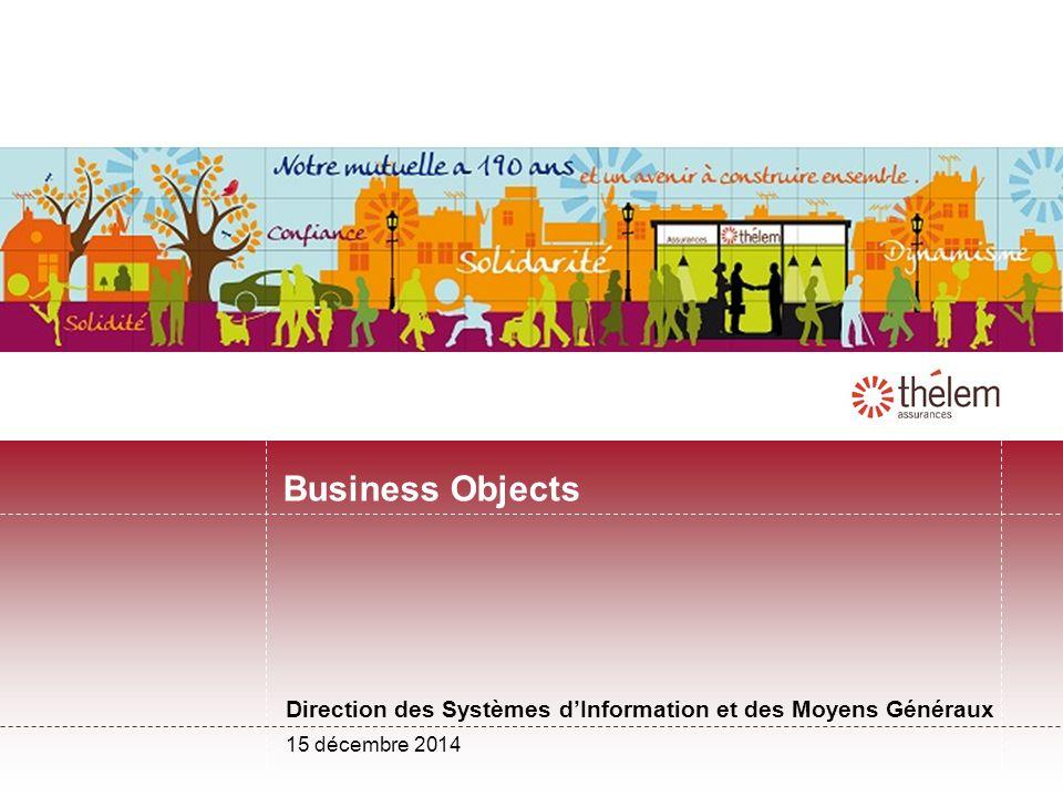 Direction des Systèmes d'Information et des Moyens Généraux Business Objects 15 décembre 2014