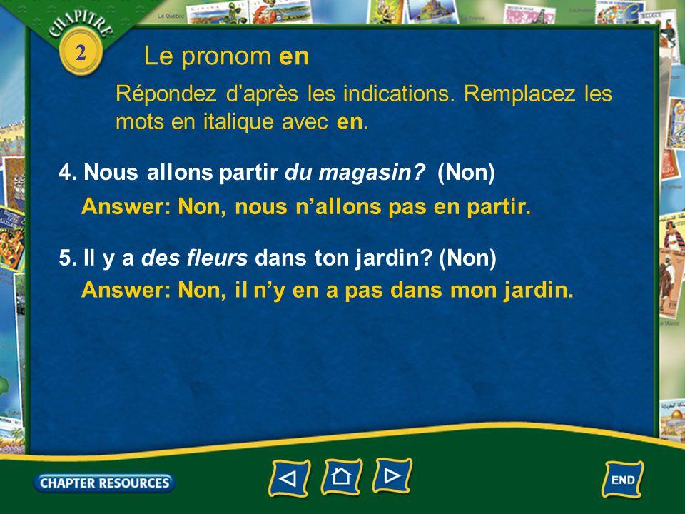 2 1. Claude avale des comprimés. (Oui, deux) Answer: Oui, Claude en avale deux.