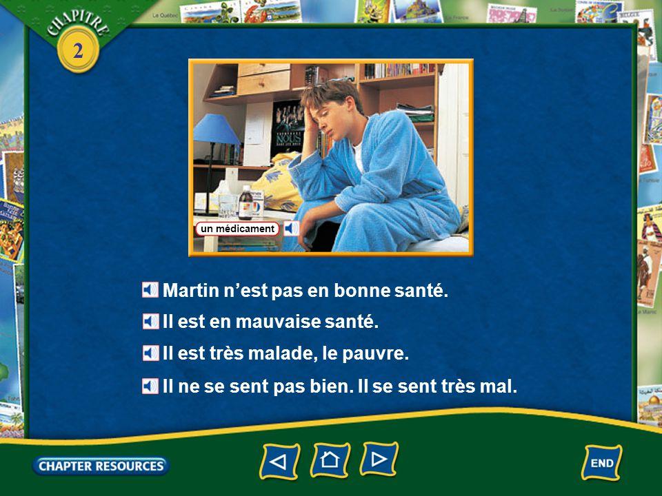 2 Answer: b.diagnostic Answer: a. médicaments 3. Le médecin fait un ____.