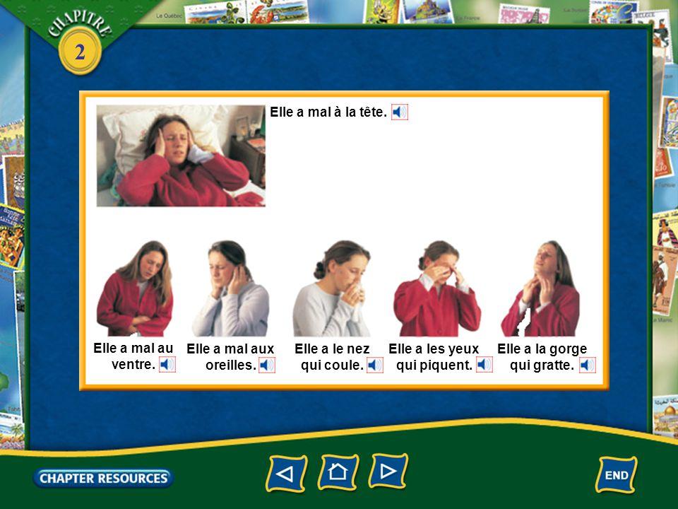 2 1.Claude avale des comprimés. (Oui, deux) Answer: Oui, Claude en avale deux.