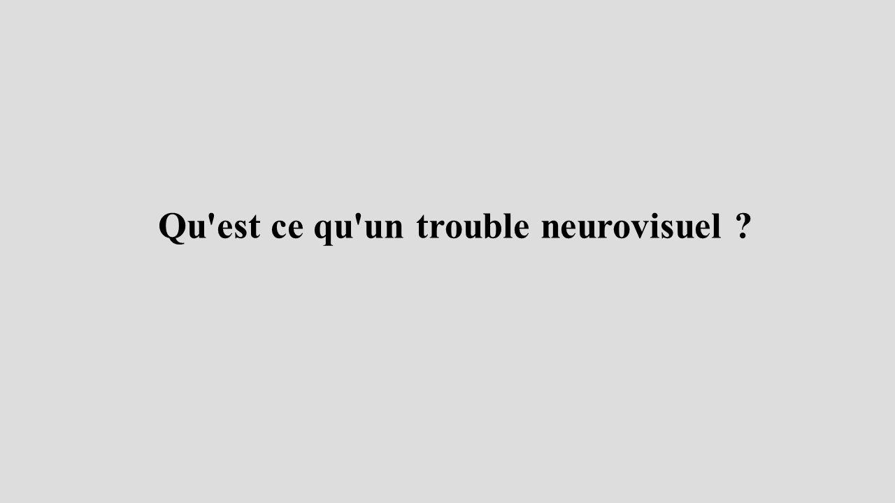 Qu est ce qu un trouble neurovisuel ?