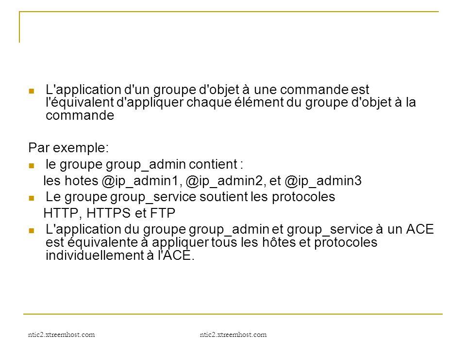 ntic2.xtreemhost.com L'application d'un groupe d'objet à une commande est l'équivalent d'appliquer chaque élément du groupe d'objet à la commande Par