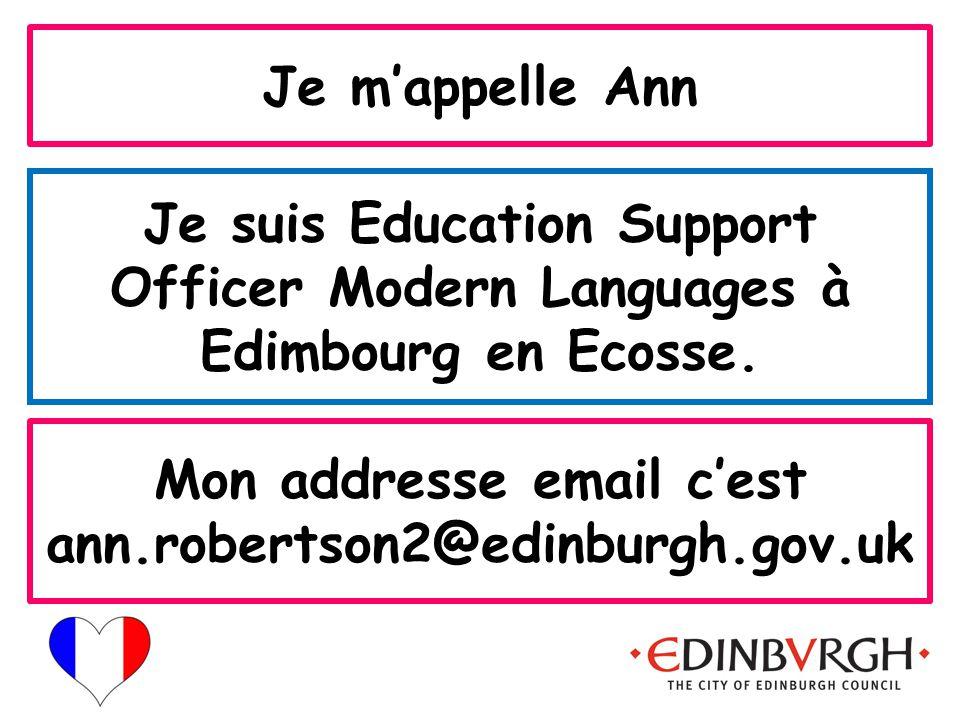 City of Edinburgh Modern Languages Un plus deux français lundi vingt-deux octobre