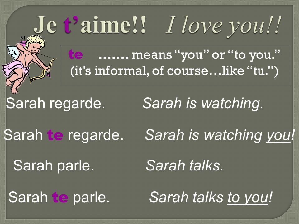 """nous ……. means """"us"""" or """"to us."""" Elle invite. She invites. Elle nous invite. She invites us. Elle téléphone. She calls. Elle nous téléphone. She calls"""