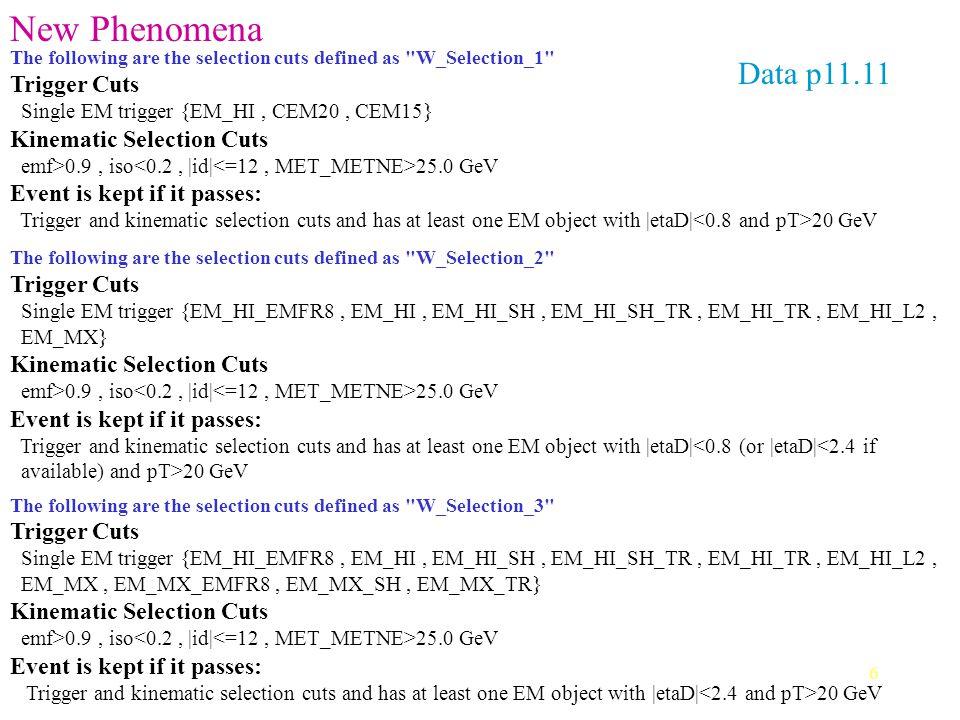 7 Conclusions sur le streaming… Partir du skeaming du Higgs: couper plus en HM8 (<50 ?), rajouter un cut sur l'isolation (iso<0.15 ?) un cut sur le missing E T (>20 ou 25 GeV) Puis regarder le nombre de jets???