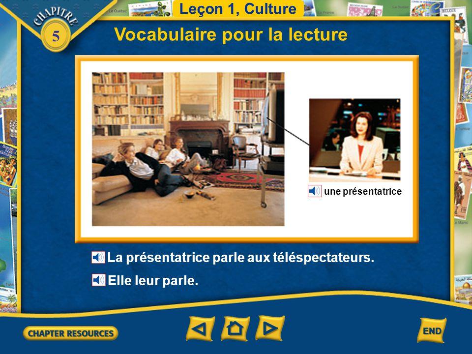 5 Vocabulaire pour la lecture Leçon 1, Culture un kiosque L'homme a acheté un magazine. Il l'a acheté au kiosque.