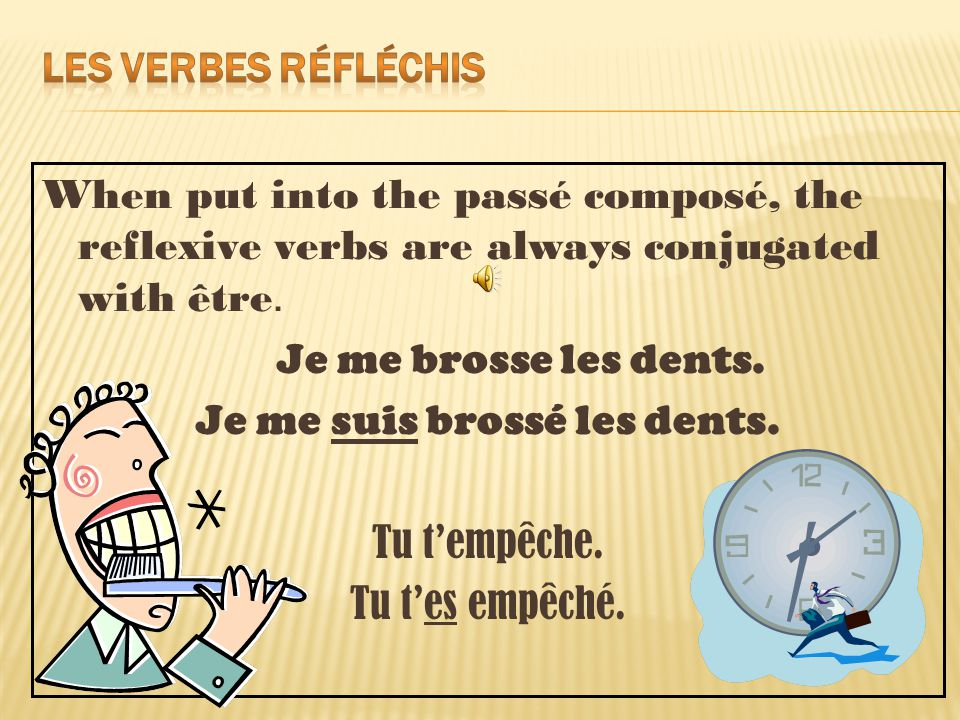 When put into the passé composé, the reflexive verbs are always conjugated with être.
