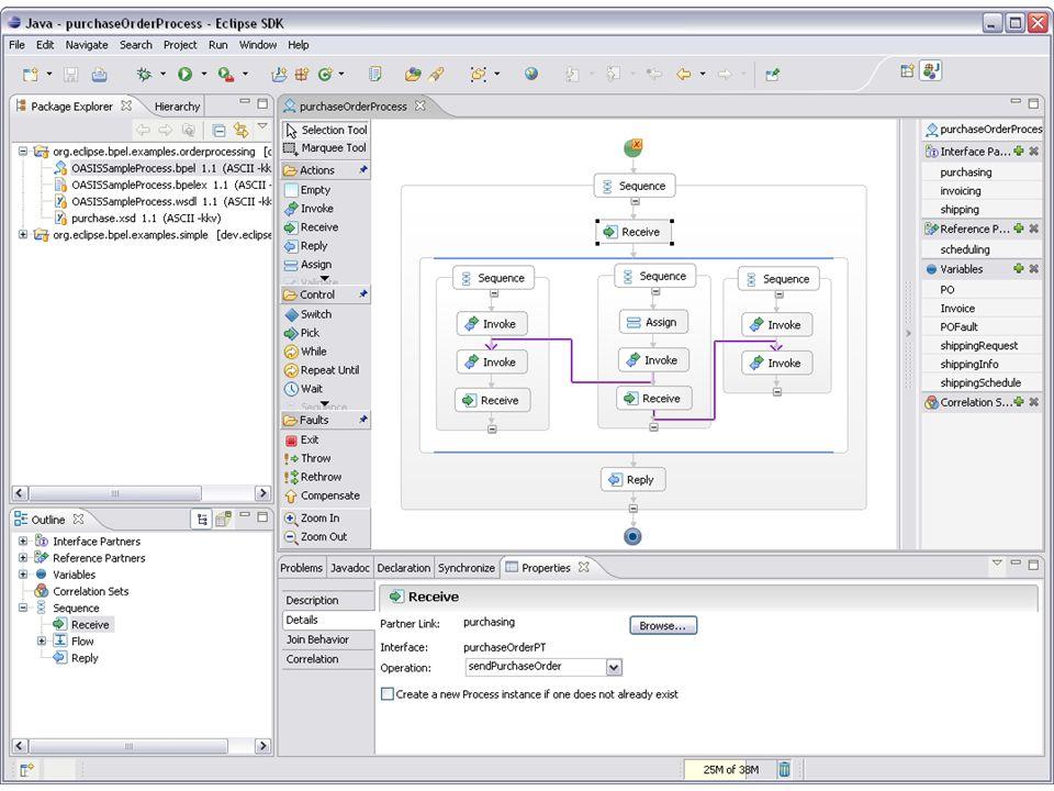 17 BPEL est un langage de programmation destiné à l exécution des procédures d entreprise.