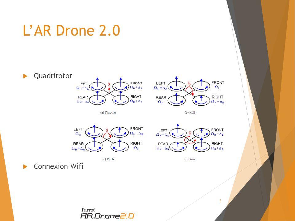 L'AR Drone 2.0  Quadrirotor  Connexion Wifi 3