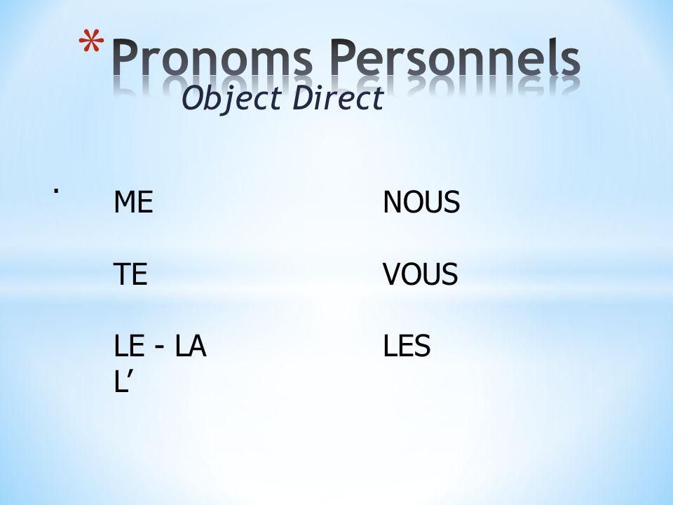 Object Direct. MENOUS TEVOUS LE - LALES L'