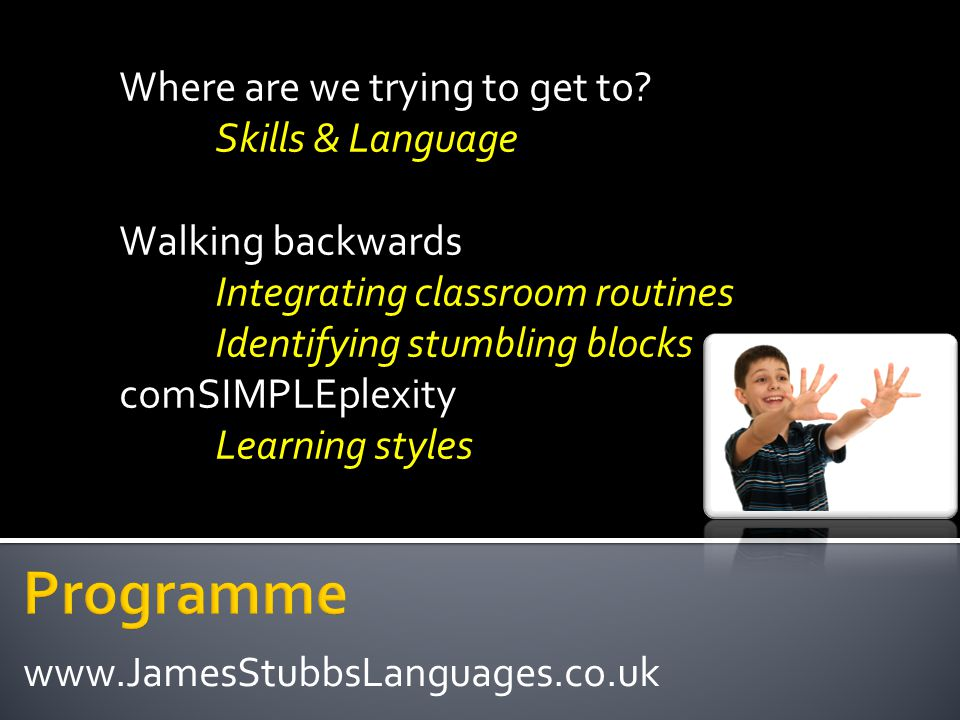 Write a letter to complain about faulty goods and to demand action to a shop Pupils should be able to: Sense of Text Sense of Audience Sense of Purpose Writing activities on TAP www.JamesStubbsLanguages.co.uk