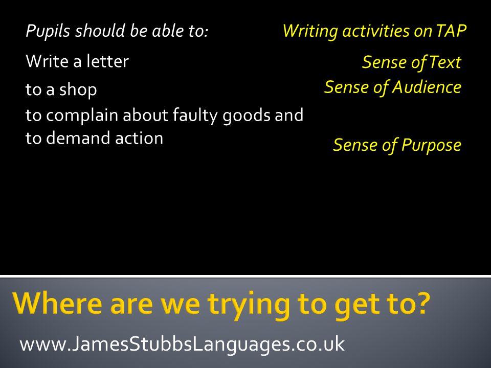 info@JamesStubbsLanguages.co.uk www.JamesStubbsLanguages.co.uk http://jamesstubbs.wordpress.com