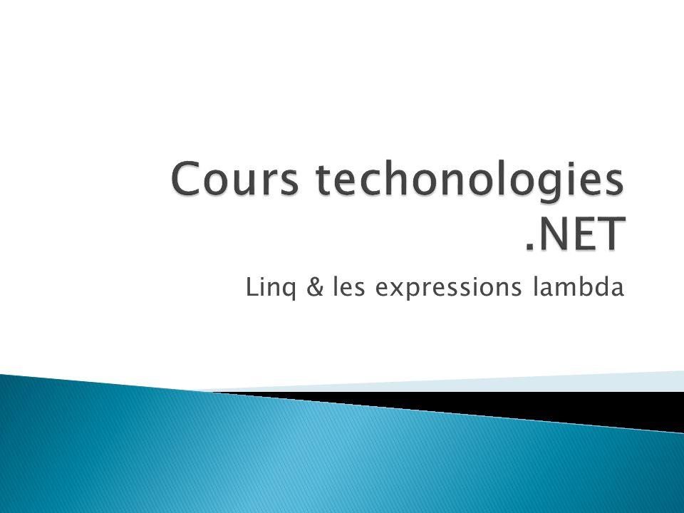 Linq & les expressions lambda