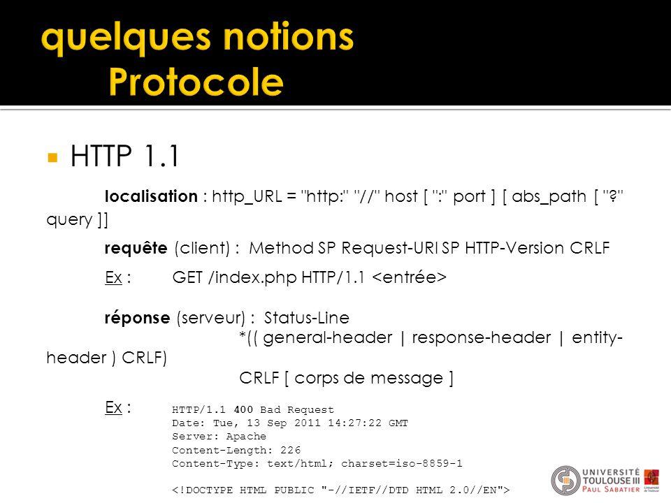  HTTP 1.1 localisation : http_URL =