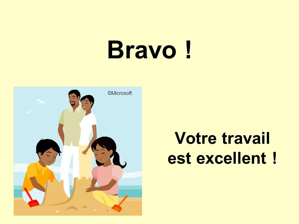 Bravo ! Votre travail est excellent ! ©Microsoft