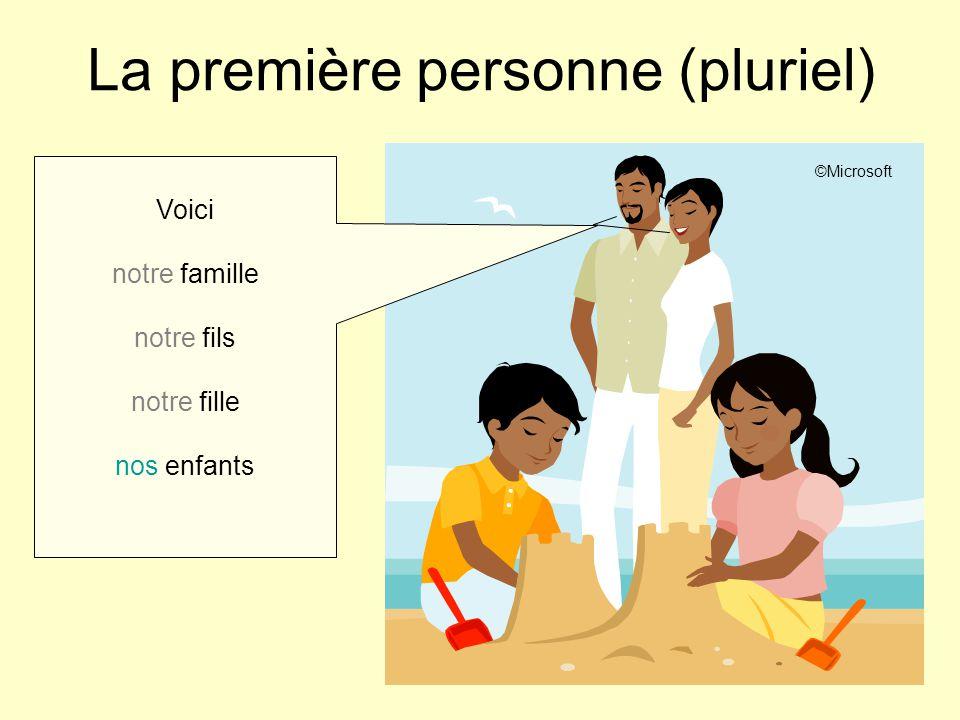 La deuxième personne (singulier) Regarde ta famille ta femme ton fils ta fille tes enfants ©Microsoft