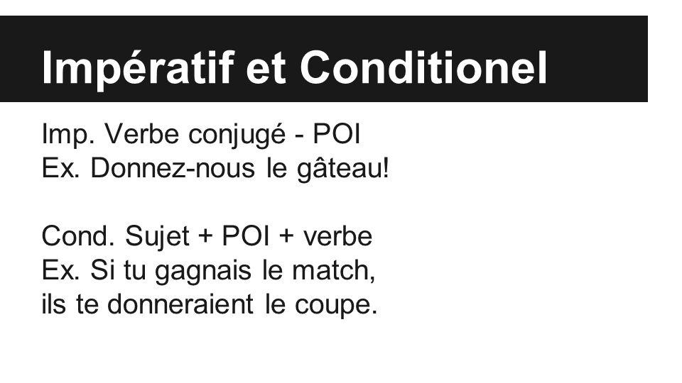 Impératif et Conditionel Imp. Verbe conjugé - POI Ex.