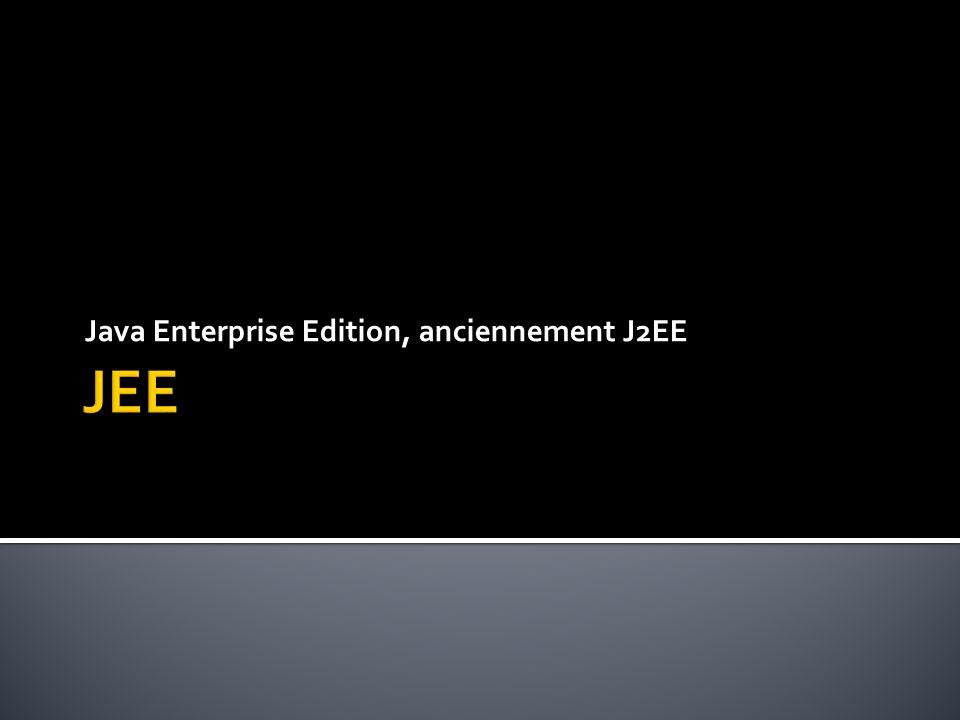  Spécifications JEE  Architecture JEE  Services JEE  Livrables JEE  Serveurs JEE  Rôles JEE