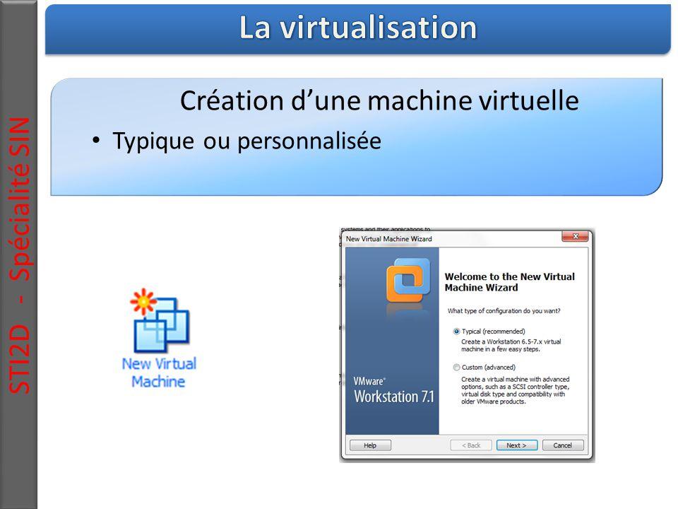 STI2D - Spécialité SIN Création d'une machine virtuelle Typique ou personnalisée