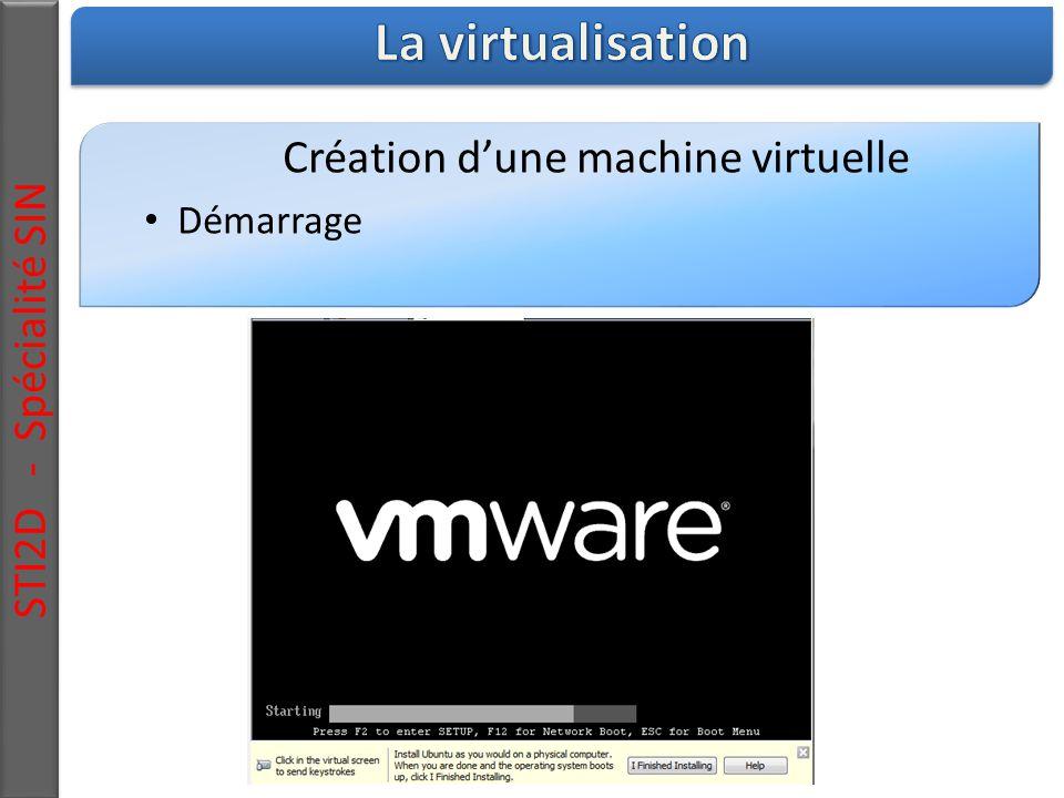 STI2D - Spécialité SIN Création d'une machine virtuelle Démarrage
