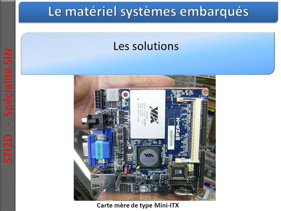 Les solutions STI2D - Spécialité SIN Carte mère de type Mini-ITX