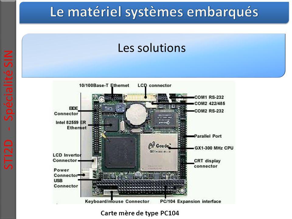 Les solutions STI2D - Spécialité SIN Carte mère de type PC104