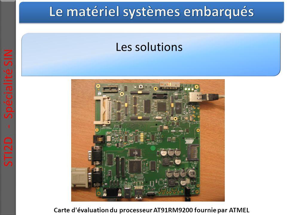Les solutions STI2D - Spécialité SIN Carte d évaluation du processeur AT91RM9200 fournie par ATMEL