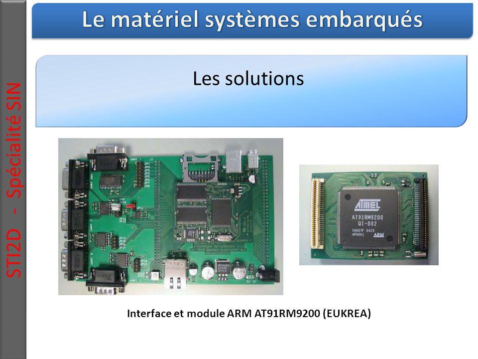 Les solutions STI2D - Spécialité SIN Interface et module ARM AT91RM9200 (EUKREA)